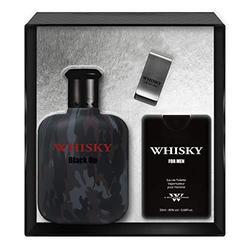 EVAFLORPARIS WHISKY BLACK OP - Gift Box: Eau de Toilette 100 ml + Travel Perfume 20 ml + Money Clip, Set, Perfume Spray, Men Perfume, EVAFLORPARIS - 520 g