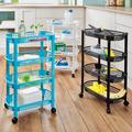 4-Tier Rolling Storage Trolley Blue by Coopers of Stortford