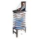 Tischkicker MCW-J16, Tischfußball Billard Hockey 20in1 Multiplayer Spieletisch, MDF 174x107x60cm ~ anthrazit-grau