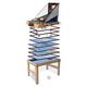 Tischkicker MCW-J16, Tischfußball Billard Hockey 20in1 Multiplayer Spieletisch, MDF 174x107x60cm ~ Eiche-Optik