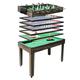 Tischkicker MCW-J15, Tischfußball Billard Hockey 7in1 Multiplayer Spieletisch, MDF 82x107x60cm ~ anthrazit-grau