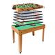 Tischkicker MCW-J15, Tischfußball Billard Hockey 7in1 Multiplayer Spieletisch, MDF 82x107x60cm ~ Eiche-Optik