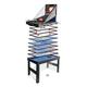 Tischkicker MCW-J16, Tischfußball Billard Hockey 20in1 Multiplayer Spieletisch, MDF 174x107x60cm ~ schwarz