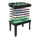Tischkicker MCW-J15, Tischfußball Billard Hockey 7in1 Multiplayer Spieletisch, MDF 82x107x60cm ~ schwarz