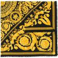Fine Knit Baroque Print Scarf - Black - Versace Scarves
