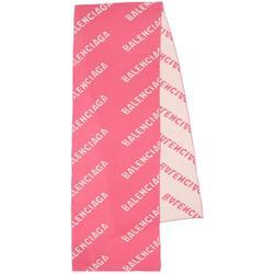 All-over Logo Scarf - Pink - Balenciaga Scarves