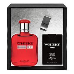 EVAFLORPARIS WHISKY RED - Gift Box: Eau de Toilette 100 ml + Travel Perfume 20 ml + Money Clip, Set, Perfume Spray, Men Perfume, EVAFLORPARIS - 520 g