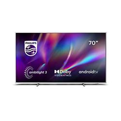 Philips Ambilight 70PUS8545/12 70-Inch LED TV (4K UHD, P5 Perfect Picture Engine, Dolby Vision, Dolby Atmos, HDR 10+, Freeview Play, Compatible with Alexa, Android TV) Light Silver (2020/2021 Model)