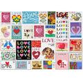 Love Stamps Jigsaw Puzzle, 1000 Pieces Wooden Jigsaw Puzzles for Adults, Wooden Puzzle Love Stamps Puzzles,Large Jigsaw Puzzle for Adults