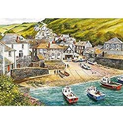 SYCEZHIJIA Family Adult Jigsaw Port Isaac Jigsaw Puzzles 1000 Pieces Wooden Puzzles Educational Game Intelligence Difficult Learning Education Toy