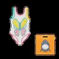 Stella McCartney Kids - Swimsuit With Butterfly Crochet - ECRU / 03A