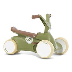 Berg GO² 2-in-1 Push Car Retro Green | Ride on and Balance Bike, Children's Ride-On Children's Car with Fold-Out Pedals, Pedal Go-Kart Children's Toy Suitable for Children Aged 10-30 Months