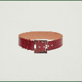 Penny Black - Red Belt With Tortoiseshell Buckle - S