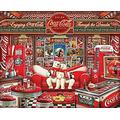SYCEZHIJIA Family Adult Jigsaw Puzzle Jigsaws Toys 1000 Pieces Wooden Puzzles Jigsaw Educational Toys Decompression Large Puzzles For Adults Children S Toys - Coca Cola Puzzles