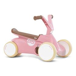 Berg GO² 2-in-1 Push Car Retro Pink | Ride-On and Balance Bike, Children's Ride On Children's Car with Fold-Out Pedals, Pedal Go-Kart Children's Toy Suitable for Children Aged 10-30 Months