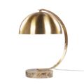 Lampada da tavolo in metallo dorato KITTAM