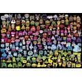 XYDXDY Adult Jigsaw Puzzle 1000 Piece Wooden Puzzle Rainbow Graffiti Puzzle For Children Over 6 Years Old