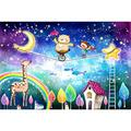 XYDXDY Adult Jigsaw Puzzle 1000 Piece Wooden Puzzle Fairy Bear Impossible Jigsaw Puzzle Colorful Jigsaw Puzzle Family Game