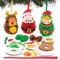 Baker Ross Kit Pom Pom Natalizi (confezione da 3)- Creativi articoli natalizi e artigianali per bambini da realizzare e decorare.