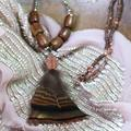 Rose Gold And Feather Necklace, Gold