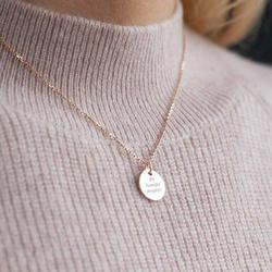 'My Beautiful Daughter' Message Necklace, Rose Gold/Rose/Gold