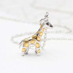 Personalised Sterling Silver Giraffe Necklace, Silver