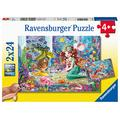 Ravensburger Puzzle 05147 Magical Mermaids Ravensburger Children's Puzzle 05147 Enchanting 2 x 24 Piece Puzzle for Children from 4 Years Yellow
