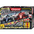 Carrera 20062482 GO!!! Speed Grip Race Track Set 5.3 m with Vettels Ferrari SF71H & Hamiltons Mercedes AMG F1 W09 EQ Power+ with 2 Hand Controls & Track Parts Children from 6 Years & Adults