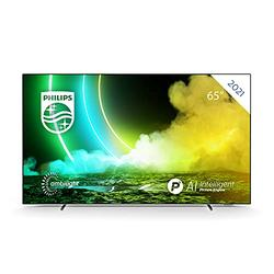 PHILIPS Ambilight 65OLED705/12 65-Inch OLED TV (4K UHD, P5 AI Perfect Picture Engine, Dolby Vision∙Atmos, HDR 10+, Freeview Play, Compatible with Alexa, Android TV) Chrome (2021/2022 Model)