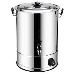 CHARON 20 Litre Commercial Stainless Steel Catering Urn, Catering Hot Water Boiler, High Heat Transfer Efficiency and Can Prevent Dry Burning.