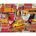 VGSD® Adults Jigsaw Puzzle 1000 Piece, Wooden Jigsaw- Coca Cola Unique Cut Interlocking Pieces, Decompression Educational Games Toys