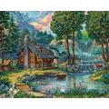 ERTYG 1000 Piece Jigsaw Piece Jigsaw Puzzles Vermont Corporation Adults Teenagers Jigsaw Large Puzzle Game