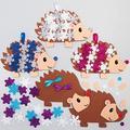 Baker Ross AX460 Kit Decorazioni Dell'Albero Di Natale Riccio Innevato - Confezione Da 5, Creativi Articoli Natalizi E Artigianali Per Bambini, Da Realizzare E Decorare