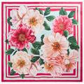 Camellia-print Twill Scarf (90 X 90) - Pink - Dolce & Gabbana Scarves