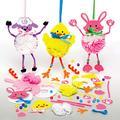 Baker Ross AX808 Kit Pompon Pasquali - confezione da 3, Creativi Articoli Pasquali e Artigianali per Bambini da Realizzare e Decorare
