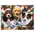 YXLY Christmas Dog Adult Jigsaw Puzzle 1000 Piece Wooden Puzzle Standard For Teenagers And Adults,Very Good Educational Game