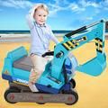 Awssya Kids Toy Engineering vehicle, Children Ride-on Toys, Toddler Tractor Construction Digger Truck, 1/24 Construction Digger Truck Ride-On Push Car Play Toy for 4-6 Years Boys Girls (Blue)