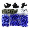 CHENJUAN Full Fairing Bolts Kit Screws Fasteners Kit Suitable for Ducati Monster 695 696 Monster 796 797 Monster 821 1200 Monster 1200S 1200R Motorcycle screws (Color : Blue)