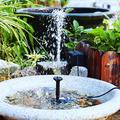 Water Fountain, Made of Molding Glass Solar Panel and Abs Plastic Ground Rod Service Life Fountain Water Pump