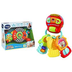 VTech Toot Toot Drivers Baby Driver, Interactive Pushchair Toy & Drive & Discover Baby Keys, Rattle Toy with Sounds and Phrases, Learning Toy for Sensory Play, Baby Teether with Interactive Features