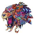 Wooden Jigsaw Puzzle with 300 Colorful Animal Pieces for Adults and Kids (Cheetah)