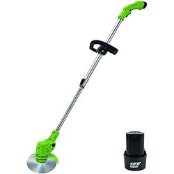 Electric Lawn Mower Home Wireless Lawn Mower Portable Small Rechargeable Lithium Battery Lawn Mower Garden Sprout Trimmer Lawn Mower Lightweight and Low Noise for Garden Courtyard,12V1 electricity