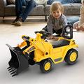 Ejoyous Ride On Excavator Digger, 8.74 × 15.75 × 11.02inch Ride-On Toy Push Along Toy Car To Play Games Plastic Ride On Digger for Kids