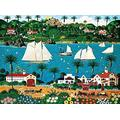 TTLDB Jigsaw Puzzles 1000 Piece, Wooden Landscape Puzzle, For Adult Kids Decompression Puzzle Nice Gifts - Sailboat Jigsaw
