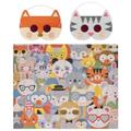 PetitCollage - 100 Piece Decoder Puzzle Animal Fesitval