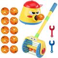 2020 Newest Electric Push Walker & Whirl Scoop A Ball Launcher Walker Set,Puzzle Fun Launcher Toy for Toddler,Baby Stroller Toy,Children Vacuum Cleaner Toy,Parent-Child Interactive Game,Birthday Gift