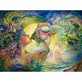 BCDJYFL 1000 pieces jigsaw jigsaw floor puzzleConch Woman for kids adults challenge puzzles for