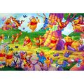 1000 Pieces Of Wooden Jigsaw Puzzle Games, Casual Puzzles For Adults And Children-Winnie The Pooh Party Poster-Birthdays, Holidays, Christmas, Valentine'S Day Gifts