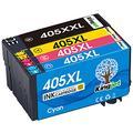 Kingjet 405XXL Ink Cartridges for Epson 405XXL Ink Cartridges Epson 405 Ink for Epson WorkForce WF-7830DTWF WF-7840DTWF WF-7835DTWF WF7830 WF7840 WF7835DTWF WF 7835(Black/Cyan/Magenta/Yellow)