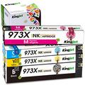 Kingjet Newest Chip 973X Replacement for HP 973 973X Ink Cartridges Work with HP PageWide Pro 452dw 452dwt 477dn 477dw 477dwt 552dw 577dw 577z Printer (Black/Cyan/Magenta/Yellow),4 Pack